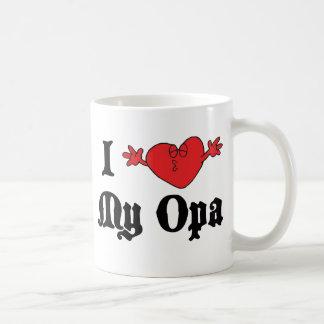 I Love My Opa Gift Basic White Mug