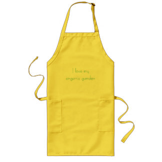 I love my organic garden long apron