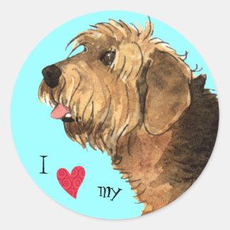I Love my Otterhound Round Sticker
