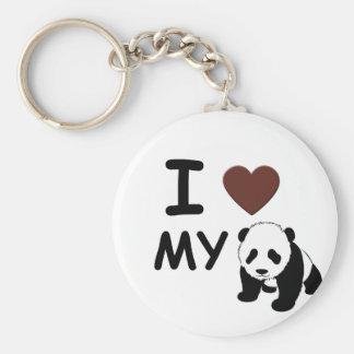 I LOVE MY PANDA KEYCHAIN