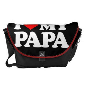 I LOVE MY PAPA MESSENGER BAGS