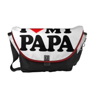 I LOVE MY PAPA COURIER BAG