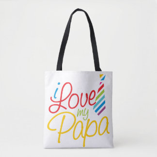 I Love My Papa Tote Bag