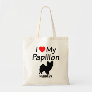 I Love My Papillon Dog Bag