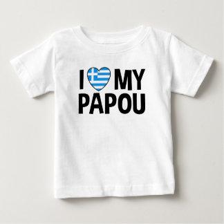 I Love My Papou Baby T-Shirt