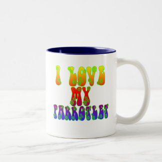 I Love My Parrotlet Two-Tone Coffee Mug