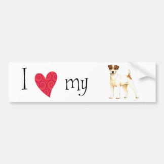 I Love my Parson Russell Terrier Bumper Sticker