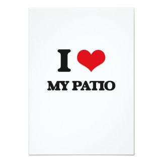 """I Love My Patio 5"""" X 7"""" Invitation Card"""