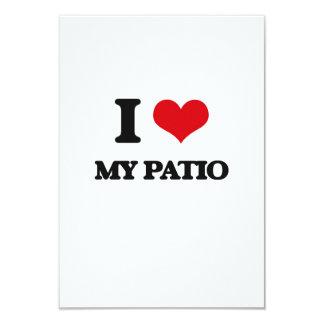 """I Love My Patio 3.5"""" X 5"""" Invitation Card"""
