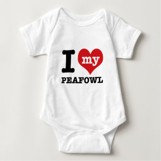 I love my peafowl baby bodysuit