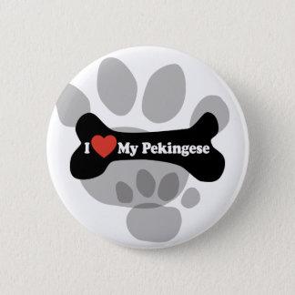 I Love My Pekingese - Dog Bone 2 Inch Round Button