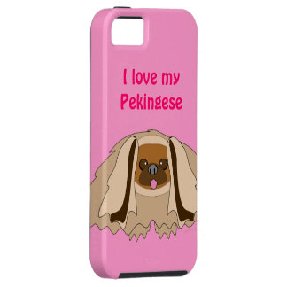 I Love My Pekingese Dog Custom iPhone 5 Case
