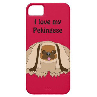I Love My Pekingese Dog Custom  iphone 5 Cover