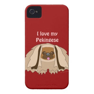I Love My Pekingese Dog Custom Phone Case
