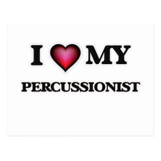 I love my Percussionist Postcard