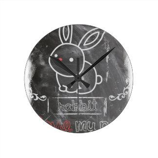 I Love My Pet Rabbit Animals Wall Clocks