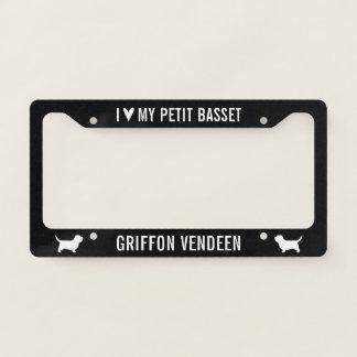 I Love My Petit Basset Griffon Vendeen License Plate Frame