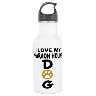 I Love My Pharaoh Hound Dog Designs 532 Ml Water Bottle