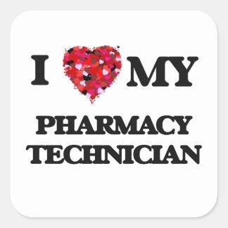 I love my Pharmacy Technician Square Sticker