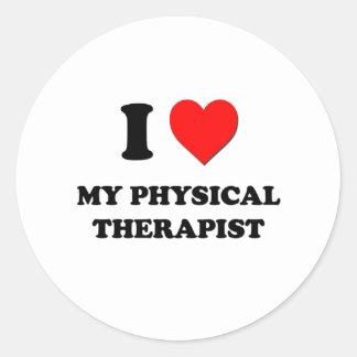 I love My Physical Therapist Round Sticker