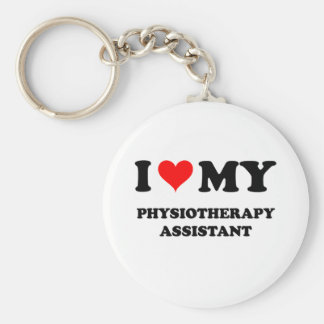 I Love My Physiotherapy Assistant Keychain