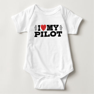 I Love My Pilot Baby Bodysuit