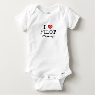 I Love My Pilot Mommy Baby Onesie