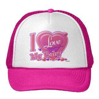 I Love My pink/purple - hearts Trucker Hat