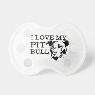 """I Love My Pit Bull"" Pacifier"