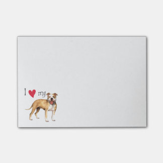 I Love my Pit Bull Terrier Post-it Notes