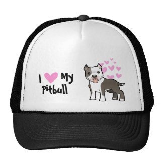 I Love My Pitbull / American Staffordshire Terrier Trucker Hat