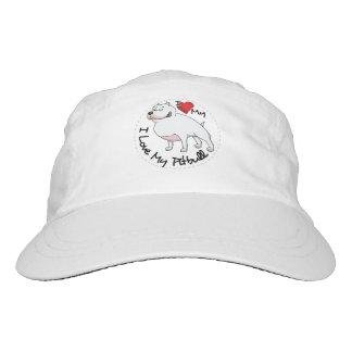I Love My Pitbull Dog Hat