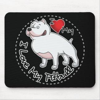 I Love My Pitbull Dog Mouse Pad