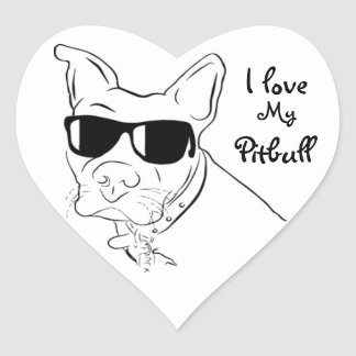 I love My Pitbull Stickers
