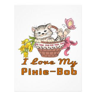 I Love My Pixie-Bob Letterhead Design
