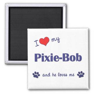 I Love My Pixie-Bob (Male Cat) Square Magnet