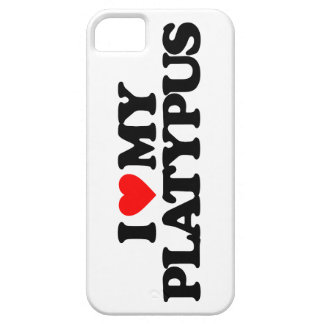 I LOVE MY PLATYPUS iPhone 5 CASES