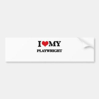 I love my Playwright Bumper Sticker