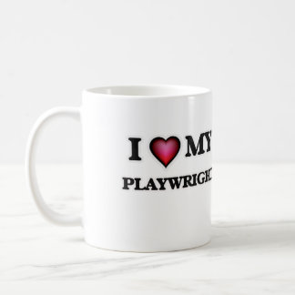 I love my Playwright Classic White Coffee Mug