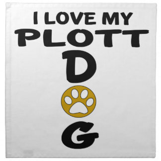 I Love My Plott Dog Designs Cloth Napkin
