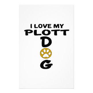 I Love My Plott Dog Designs Customized Stationery