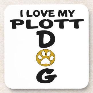I Love My Plott Dog Designs Drink Coasters