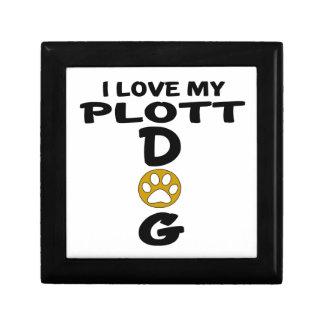 I Love My Plott Dog Designs Keepsake Boxes