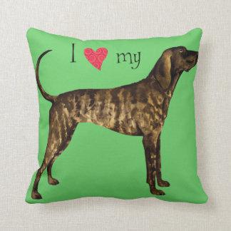 I Love my Plott Throw Pillow