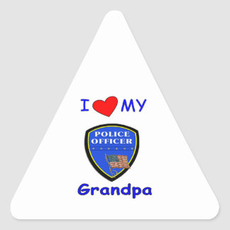 I Love My Police Grandpa Stickers