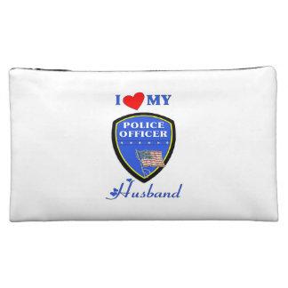 I Love My Police Husband Cosmetics Bags