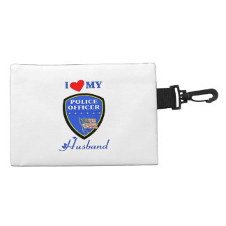 I Love My Police Husband Accessory Bag