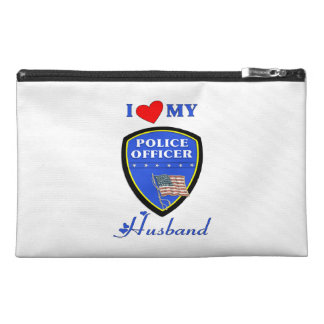 I Love My Police Husband Travel Accessories Bags