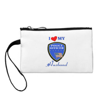 I Love My Police Husband Coin Wallet