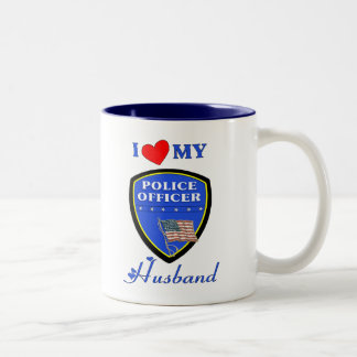 I Love My Police Husband Two-Tone Coffee Mug